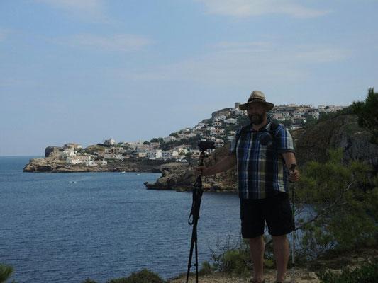 Der Klippenwanderer, im Hintergrund Montgo