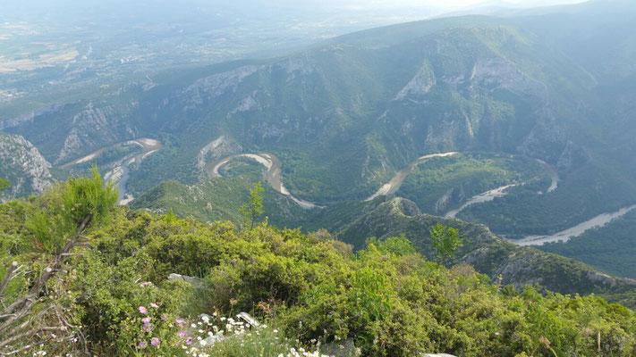 Unsere Wanderroute aus 1000m Höhe