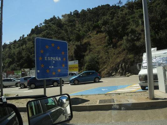 Wir sind in Spanien