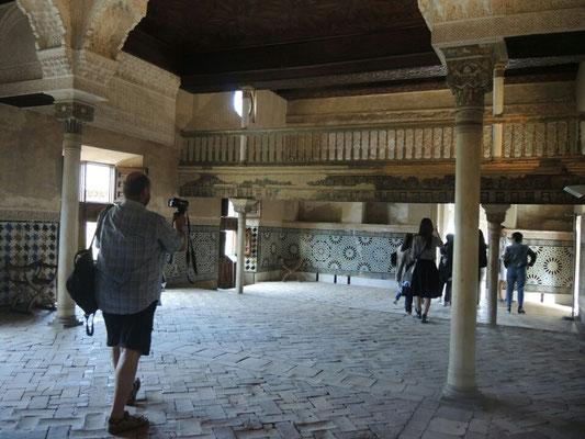 Im Nasridenpalst, ab 1238 gebaut,  Palst der maurischen Herrscher