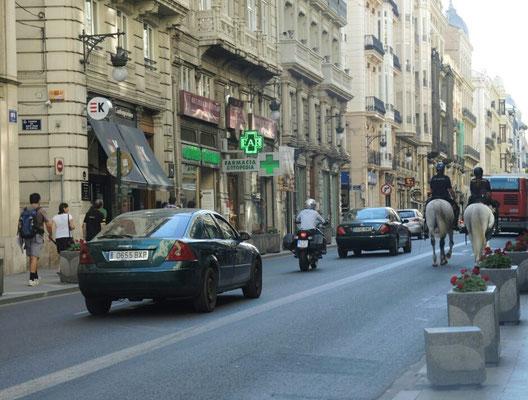 Berittene in der Altstadt