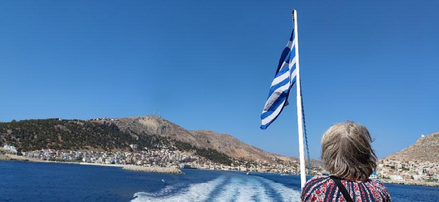 Von Kalymnos weiter mit der Schnellfähre nach Leros