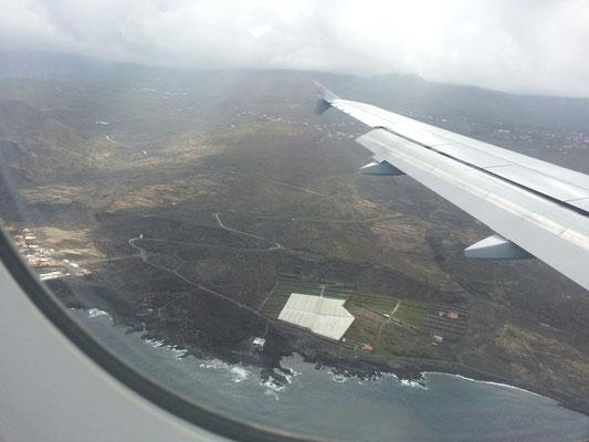 und schon über La Palma