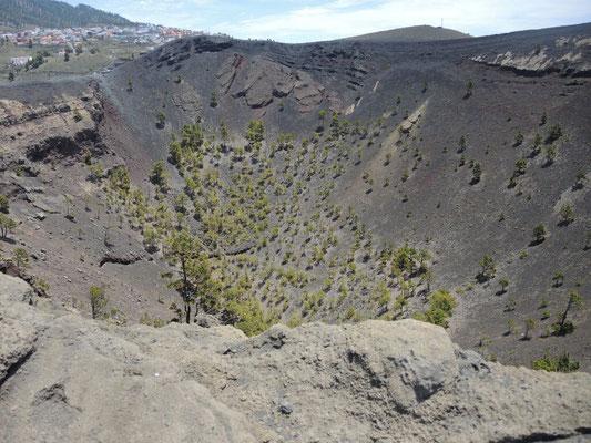 Der Krater von San Antonio (Ausbruch 1677)