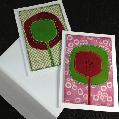 Fiber art cards