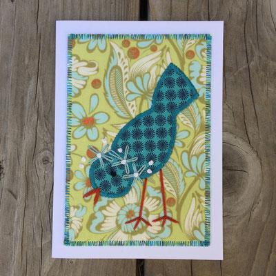 Little Bird Fiber Art Card
