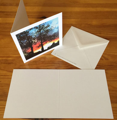 5x5 inch photo cards are blank on the inside, professionally printed with an eco-friendly technique, and paired with a recycled paper envelope