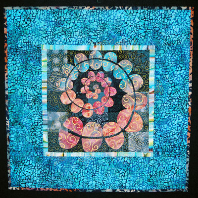 Art Quilt with spiraling design