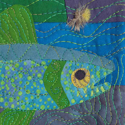 Close-up of quilted fish