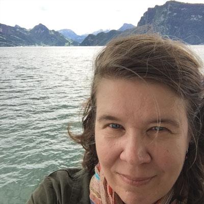 Amy on Lake Lucerne, Switzerland, Summer 2016