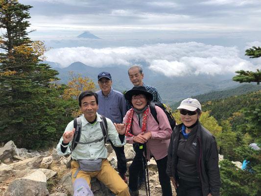 金峰山、朝日岳