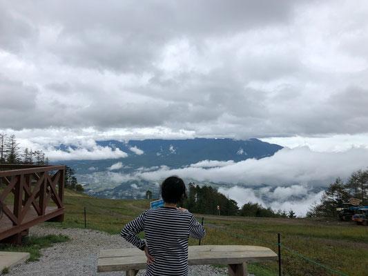 入笠山、山頂駅から八ヶ岳方面を望む