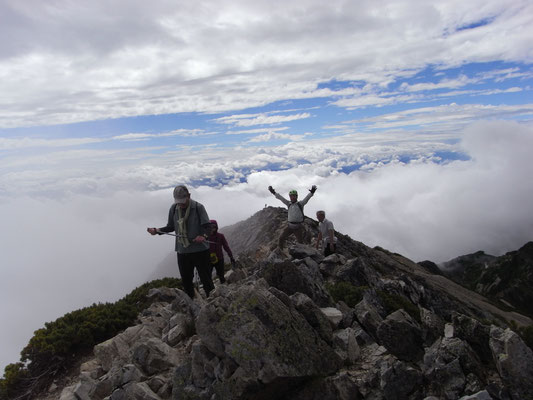 五竜岳頂上付近