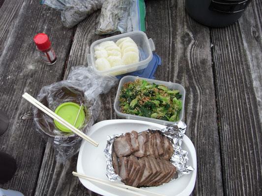 丹沢大山ランチのお料理
