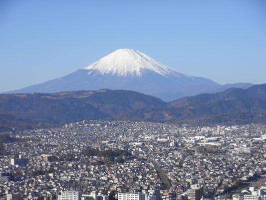 権現山(弘法山)からの富士山