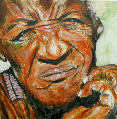 Himba3a / Acryl auf Leinwand 80x80
