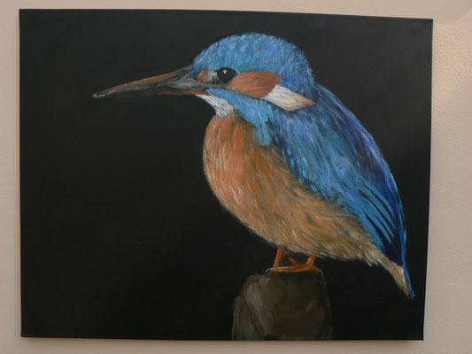 Eisvogel 1 , 2014-15 , 100x80 , Acryl auf Leinwand