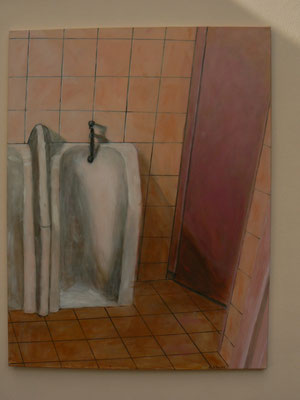 "Öffentliche Toilette ""Josselin/Bretagne"" / Acryl auf Leinwand 100x130"
