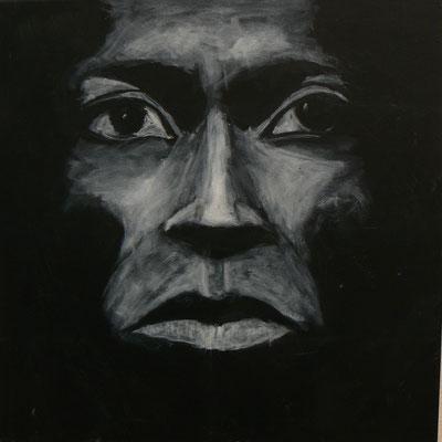 Miles Davis Studie-Tutu1  /  Acryl auf Leinwand 50x50