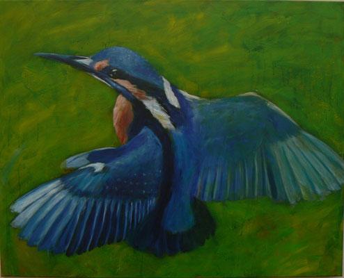 Eisvogel 4 , 2015 , 100x80 , Acryl auf Leinwand