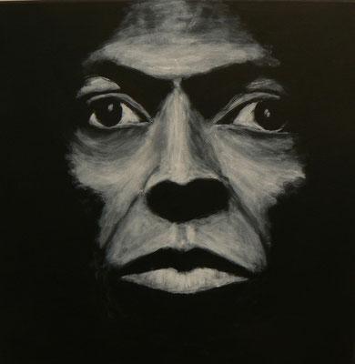 Miles Davis Studie -Tutu2  /  Acryl auf Leinwand 50x50
