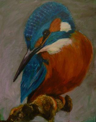 Eisvogel 5 , 2015 , 80x100 , Acryl auf Leinwand