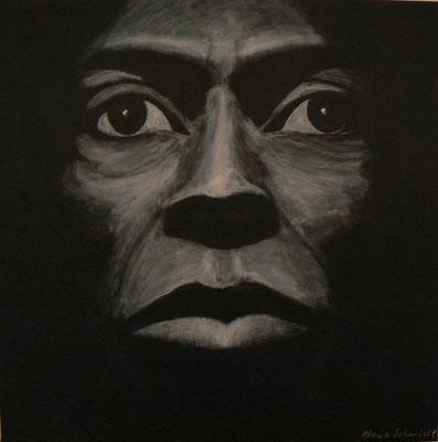 Miles Davis Studie-Tutu3  /  Acryl auf Leinwand 90x90