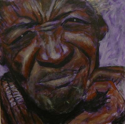 Himba3b / Acryl auf Leinwand 80x80