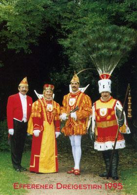 Prinzenführer Georg Reichwein, Jungfrau Wilhelmine (Willy Derigs), Prinz Dieter I (Vogelfänger), Bauer Friedel (Hellmick)