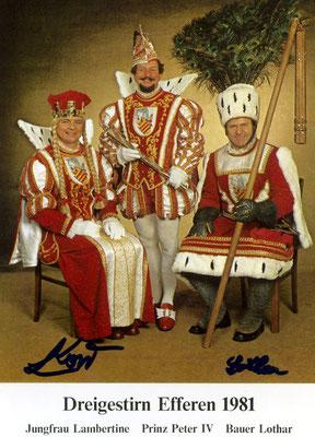 Jungfrau Lambertine (Lambert Korr), Prinz Peter IV (Peter Blatzheim), Bauer Lothar (Lothar Scherzinger)