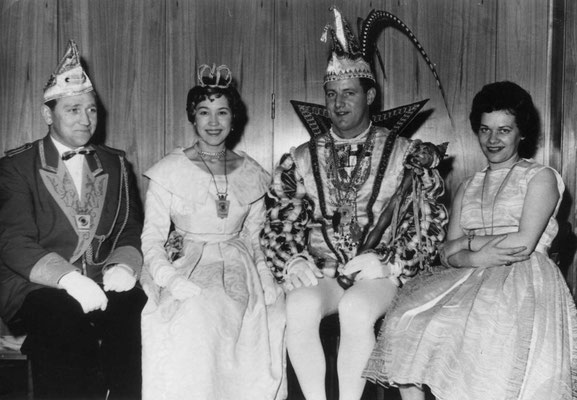 Prinzenführer Günter Neumann, Prinzessin Doris, Prinz Hans I, Hofdame Käthe Neumann