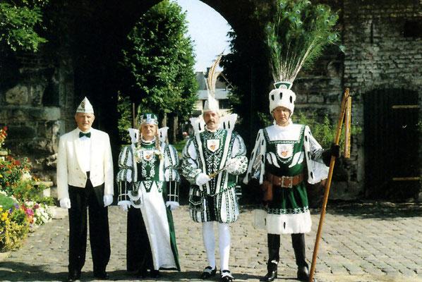 Prinzenführer Bernd Frechen, Jungfrau Dietlinde (Dieter Geisler), Prinz Ingo I (Ingo Alexius), Bauer Horst (Horst Mahr)