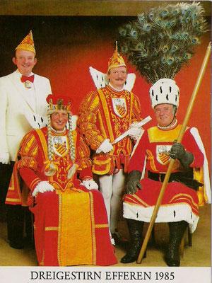 Prinzenführer Christian Broicher, Jungfrau Josefine (Josef Schwister), Prinz Hans IV (Hans Röhrig), Bauer Theo (Theo Klütsch)