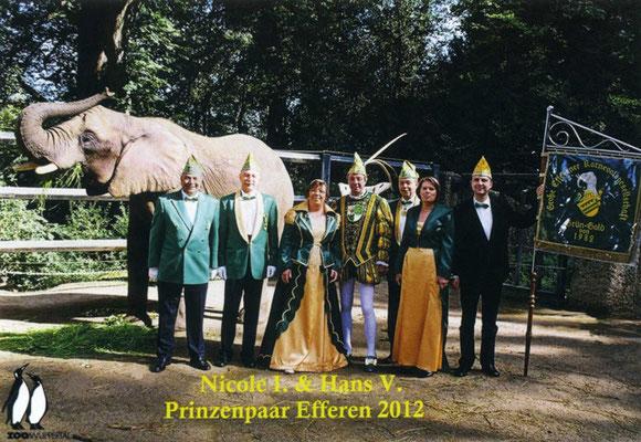 Prinzessin Nicole I, Prinz Hans V, Prinzenführer Hermann Koch, Adjudanten Karin Koch, Marco Schmidt, Jörg Olaf Schütte, Fahrer Michael Ziskoven