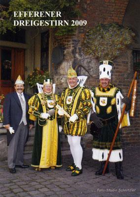 Prinzenführer Jakob Flock, Jungfrau Winni (Wilfried Müller), Prinz Alexander I (Alexander Küpper), Bauer Hännes (Hans Schrön)