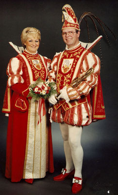 Das Prinzenpaar Prinzessin Gerlinde (Herkenrath) und Prinz Rolf I (Herkenrath)