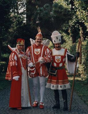 Jungfrau Jacobine (Jaap Bouman), Prinz Toni II (Toni Clasen), Bauer Jürgen (Jürgen Clasen)