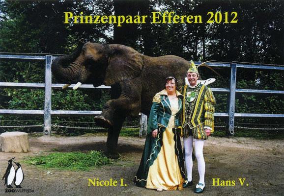 Prinzessin Nicole I (Nicole Steiner) und Prinz Hans V (Hans Steiner)