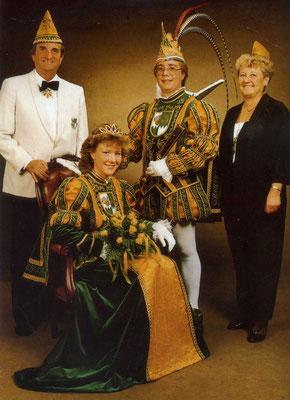 Prinzessin Iris I, Prinz Peter V, Prinzenführer Alfred Schwickert, Adjudantin Maria Schwickert