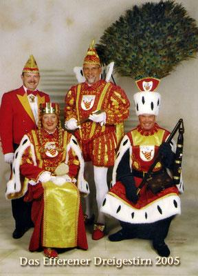 Prinzenführer Matthias Hellmick, Jungfrau Claudia (Klaus Lasch), Prinz Michael I (Michael Urmann), Bauer Hans-Günter (Hans-Günter Müller)