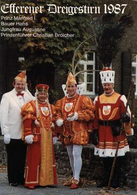 Prinzenführer Christian Broicher, Jungfrau Augustine (August Lennartz), Prinz Manfred I (Manfred Meurer), Bauer Hans (Hans Kleefisch)