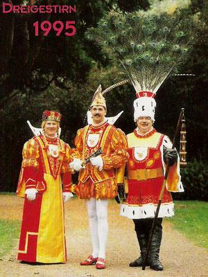 Jungfrau Wilhelmine (Willy Derigs), Prinz Dieter I (Dieter Vogelfänger), Bauer Friedel (Friedel Hellmick)