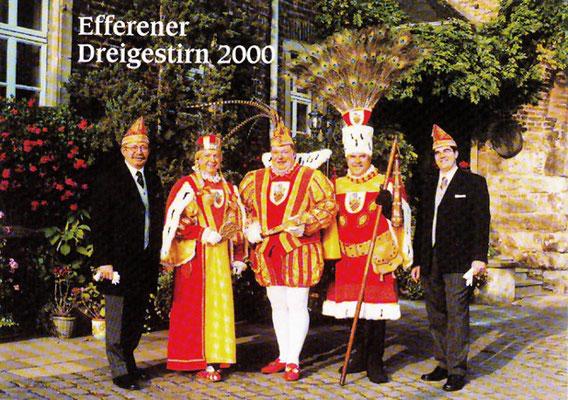 Prinzenführer Georg Reichwein, Jungfrau Mathilde, Prinz Friedel I, Bauer Josef, Adjudant Michael Pütz
