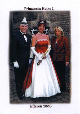Prinzessin Heike I (Sardo) mit Prinzessinführerin Elke Königsfeld und Adjudant Gerd Schiffer