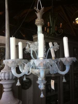 lustre en verre de Venise 5 lumières