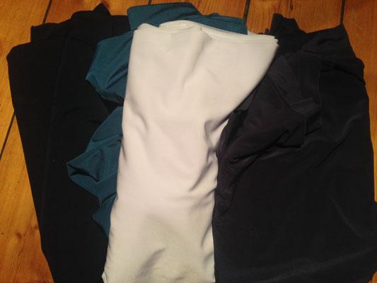 Silk Touch Jersey in weiß, schwarz, teal und navy