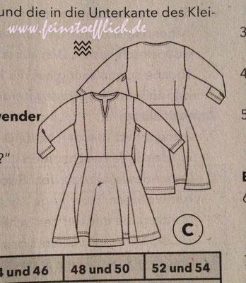 Scnhnittzeichnung Kleid 2 Knipmode Fashionstyle 9/2016