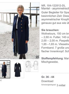 Modell aus 12/2012 Quelle: Screenshot Burdastyle.de