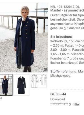 Modell aus 12/2012 Quelle: Screenshot Burdastyle.de