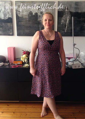 2. Outfit des Tages nach dem kaputten Kleid, auch ein alter Burdaschnitt aus Stoff vom Maybachufer